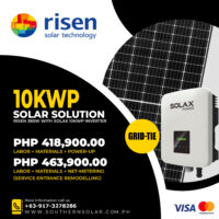10KWP Risen + Solax Grid Tie Package