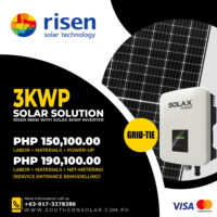 3KWP Risen + Solax Grid Tie Package