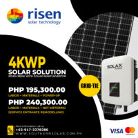 4KWP Risen + Solax Grid Tie Package